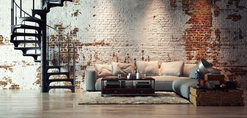 Salon décoration industrielle