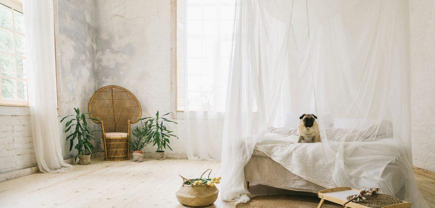 Chambre décoration naturelle bohème