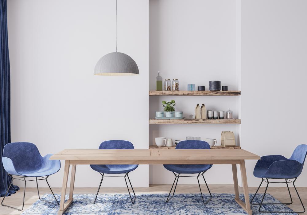 Une salle à manger style scandinave