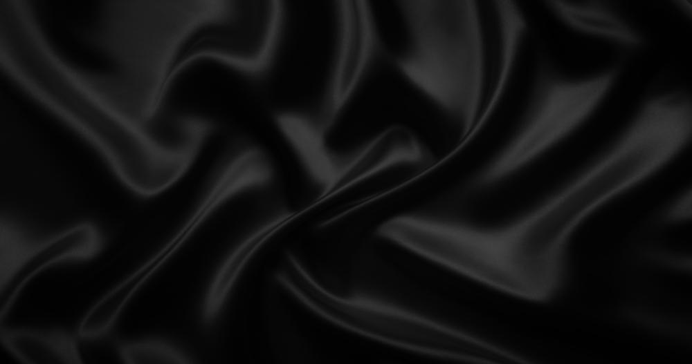 Tissu noir satiné